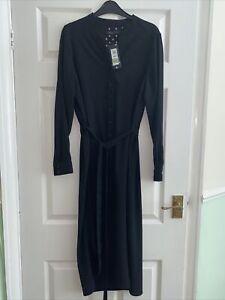 Ladies Black Dress Size 12 M&S Collection
