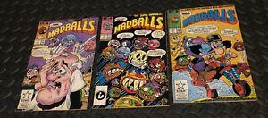 MADBALLS LOT OF 3 STAR MARVEL COMICS #4 5 7 1987