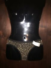 Eyeshadow black leopard gold sparkle sheer bikini panty knickers size 6/medium