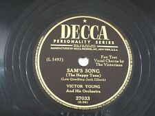US 78 rpm Victor Young: Sam's Song / Drifting' down the Ol' Ohio, Decca 27033