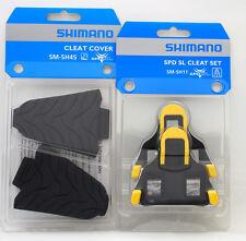 Shimano Road SPD-SL Pedal SM-SH11 6 Deg Float Shoe Cleats & SM-SH45 Cover Set