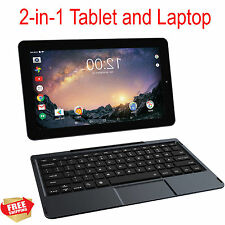 "2 in 1 Tablet 11.5"" Screen Quad-Core Processor Intel 32gb Laptop Keyboard Black"