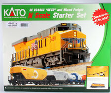 Kato 106-0023 N Scale, ES44AC Freight Train CompleteStarter Set, Union Pacific