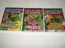 Lot Set Of 3 DVD Movies Historia De Piratas conociendo A Los Animales Sealed