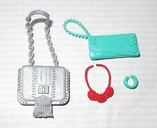 PURSE LOT (PL31) ~ FASHIONISTA BARBIE DOLL PURSE NECKLACE BRACELET ACCESSORIES