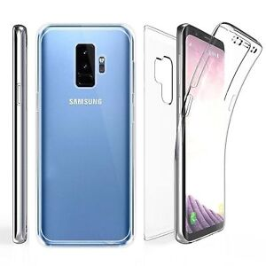 New Full 360 Front + Back shockproof TPU Clear Gel Case Cover For SAMSUNG S9plus