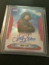 2019 Topps star wars chrome legacy autos Kelly Marie Tran as Rose Tico RED 2/5