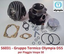 Gruppo Termico Cilindro + Pistone Olympia D55 = 100cc per Piaggio Ape 50 Tutte