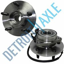 New Set (2) Front Left or Right Wheel Hub and Bearing 5-Lug w/ABS M14 Bolts 4x4