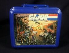 Vintage 1986 Hasbro G I Joe Aladdin Lunch Box Cobra Blue No Thermos Plastic EUC