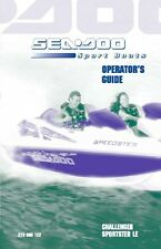 Sea-Doo Owners Manual Book 2001 CHALLENGER & SPORTSTER LE