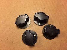 """4 Antique Black Round Arrow Pointer Knobs 1.5"""" Guitar Amplifier Ham Radio 1944"""