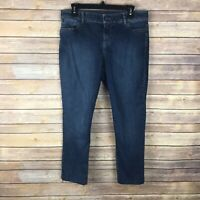 Talbots Signature Womens Jeans Stretch Denim Slim Leg Crop Dark Wash Size 10P