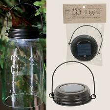 Country/Primitive/Cottage HANGING Solar Light Lid For Mason Jar - RUSTIC BROWN