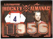 JEAN BELIVEAU DOUG HARVEY 2019-20 Leaf Ultimate HOCKEY ALMANAC 1956 #18/20