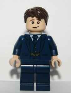 LEGO Flesh Minifigure Dark Blue Suit Tie Wedding Groom Best Man Reversible Head