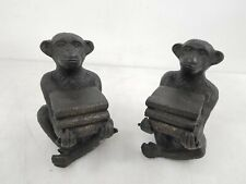 2x Andrea by Sadek Cast Iron Monkey Bookends Dr