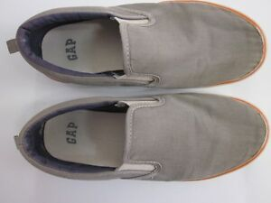 GAP Kids Oxford Cotton Canvas Slip-on Sneakers Gray Size 4 Youth*