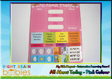 Kids Magnet All About Today (Pink) - Educational Interactive Learning Magnetic