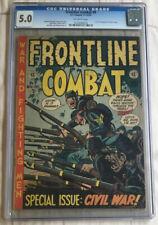 FRONTLINE COMBAT #9 CGC-5.0 1952. E.C.Comics. Wood, Davis,Elder,Severin,Kurtzman