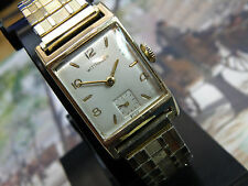 SERVICED....WITTNAUER TANQ MAN`S WATCH...VERY NICE..NEW CRYSTAL///FACETED BEZEL