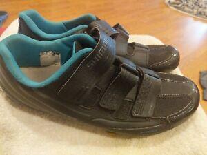 Women's Shimano RP2W Cycling Shoes, Black/Blue, Size US 9.5