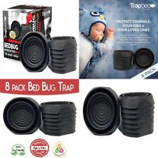 Bed Bug Interceptors Trap 8 Pack Black. Revolutionary Design ensures.