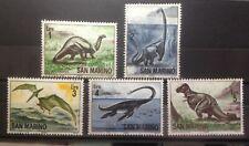 1965 San Marino Serie Animali Preistorici Dinosauri 5 valori nuovi!!!