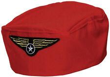 Azafata sombrero rojo nuevo-carnaval carnaval sombrero gorra tape la cabeza