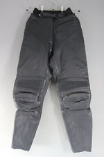 CLASSIC IXS BLACK LEATHER BIKER TROUSERS: WAIST 28 INCHES/INSIDE LEG 28 INCHES