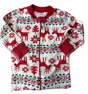 Hanna Andersson Christmas Reindeer Pajama Sleeper Sz 80 18-24 Months
