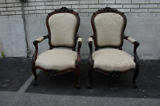 Exquisite Pair of French Bergere Rosewood Armchairs, New Upholstery