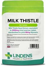 Milk Thistle Seed Extract 100mg Tablets (120 pack) 80% Silymarin Liver Hangover
