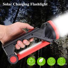 Solar Power Rechargeable Portable LED Flashlight Camping Tent Light Lantern Lamp
