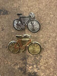 Black Red BMX Bicycle Motocross Pin Badges Vintage Bike Pins