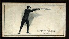 Tobacco Card, Imperial Canada, INFANTRY TRAINING, 1915, Bayonet Fighting, #37