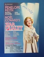 THEATRE FLYER STAR QUALITY SIGNED BY UNA STUBBS [ TILL DEATH US DO PART ]