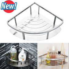 Stainless Steel Non Rust Bathroom Shower Shelf Storage Silver Basket Caddy Tidy