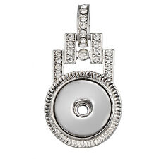 Hot Women Crystal Jewelry Necklace Pendant Fit 18mm Noosa Snap Button N139