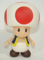 Super Mario Brothers Mushroom Red Toad Action Figure Plastic Toy 9CM