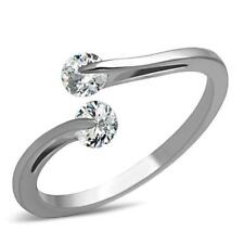 Fashion Ring Size 5 - 10 Hcj 2 Tension Setting Round Cz Promise