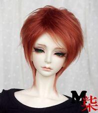 "7-8"" 18-19cm BJD Fabric Fur Wig Red Brown For 1/4 BJD Doll MSD DOC DZ LUTS"