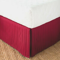 "Greenland Home Burlap 100/% Polyester Platform Bed Skirt Drop 15/"""