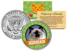 Birman Cat Jfk Kennedy Half Dollar Us Colorized Coin