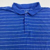 Gap Lived-in Polo Shirt Men's 3XL XXXL Short Sleeve Blue Striped 100% Cotton