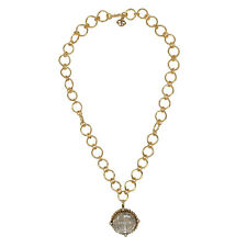 VSA Betty San Benito Chunky Chain Necklace in Gold and Clear Crystal