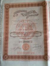 Vintage share certificate Stocks Bonds Etablissements VEDY Societe Anonyme 1923