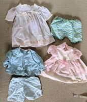 Vintage/Antique Doll Clothes Lot of 5 Larger Size