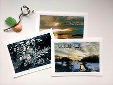 3 Variety Blank Sympathy Cards w/Envelopes 💕🙏 Beautiful Handmade Photo Cards