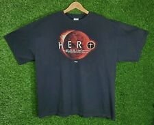 Vtg Jesus Shirt Hero He Sent His Son To Save the World Kerusso Graphic 2XL Y2K